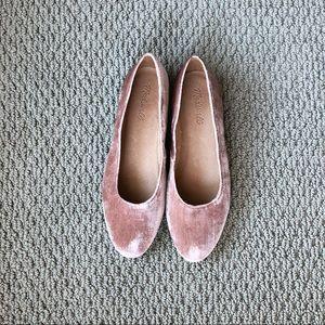 Madewell Leia Velvet Ballet Flats
